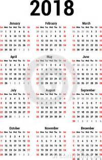Colombia Kalender 2018 Calendario 2018 Ilustraci 243 N Vector Imagen 42323201