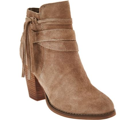 sole society boots sole society suede ankle boots w tassel detail rumi
