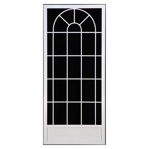 Screen Doors Lowes by Shop Suntech Doors 38 In White Aluminum Screen Door At