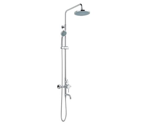 Shower Poles by Florentine Shower Pole With Overhead Shower Shower And Bath Spout Mul2