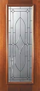 Exterior Slab Doors With Glass Slab Entry Single Door 80 Mahogany Bourbon Lite Glass Mediterranean Front Doors Ta