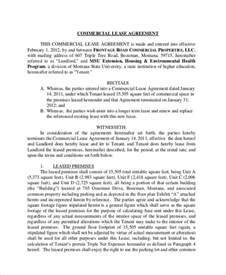 commercial building lease agreement template sle commercial lease agreement 7 documents in pdf