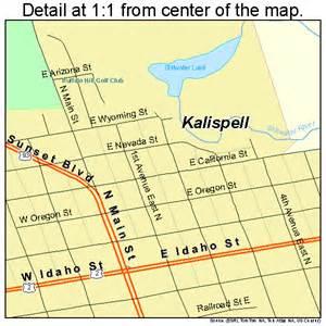 Kalispell Montana Map by Kalispell Montana Street Map 3040075