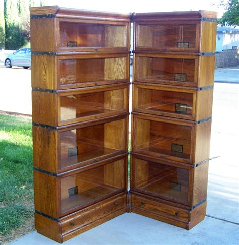 25 Quot 3 4 Size Globe Wernicke Bookcase Corner Unit Antique Vintage Bookshelves For Sale