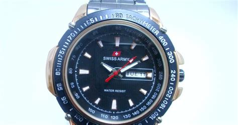 Jam Tangan Pria Swiss Army Kryptonite Black Gold arloji jam tangan pria swiss army black gold