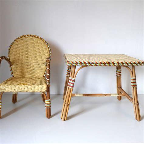 bureau rotin bureau enfant rotin la marelle mobilier vintage pour