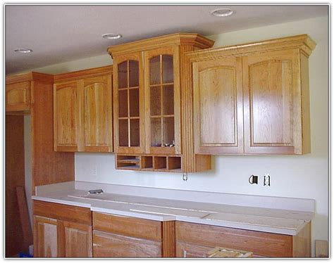 kitchen cabinet trim installation kitchen cabinet crown molding to ceiling home design ideas