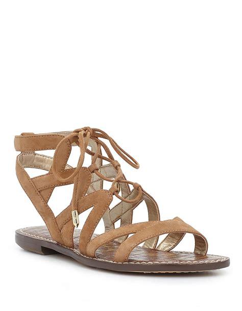 sam edelman sandals sam edelman gemma suede gladiator sandals in beige camel