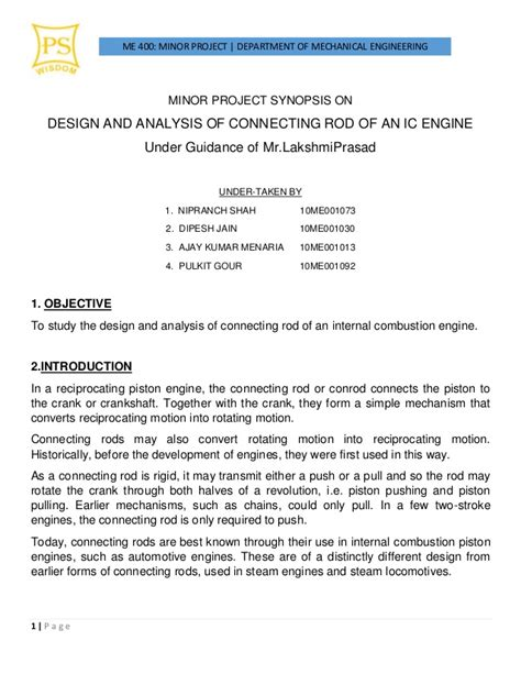 synopsis template minor project synopsis on