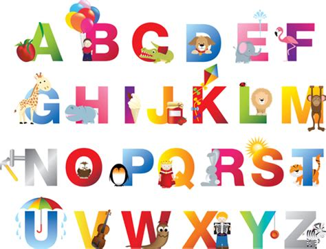 printable baby fonts baby with animal alphabet vector vector font free download