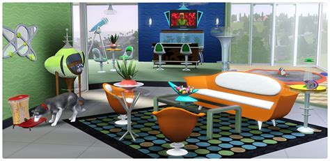 atomic home decor atomic age living and dining store the sims 3