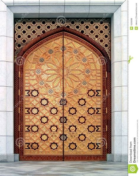 masjid door design masjid door vector door mosque with arabic pattern for