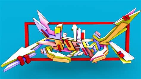 imagenes de letras variadas graffitis karen 3d
