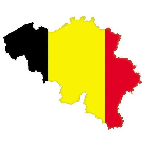 belium map vektorkarte belgien und belgische flagge