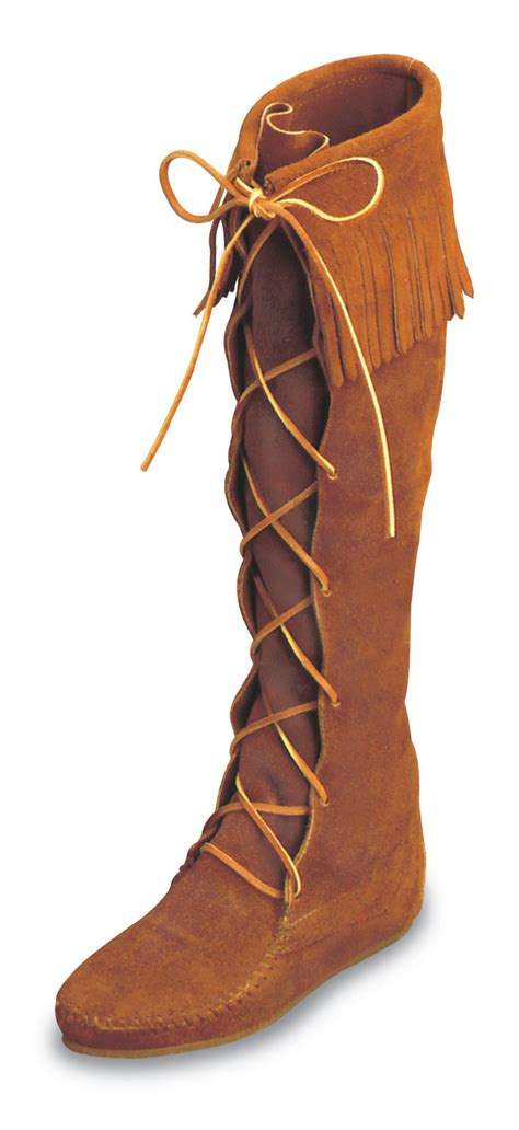 minnetonka moccasin s brown suede front lace hardsole