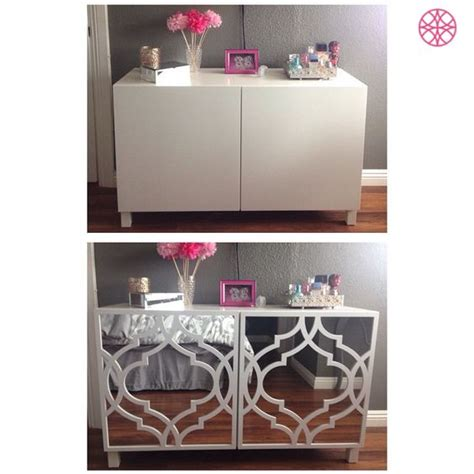 besta diy ikea besta before then after some mirror and an o verlays