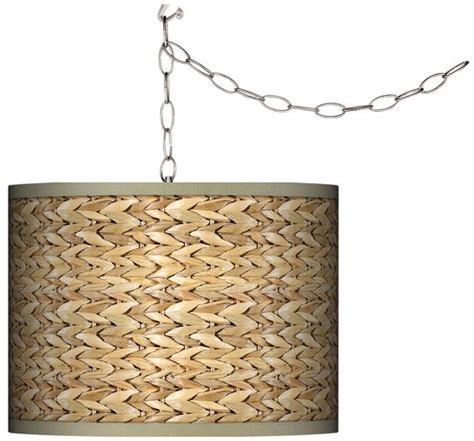 Seagrass Chandelier Shade Swag Style Seagrass Print Shade In Chandelier Plugs Swag Style And In Chandelier