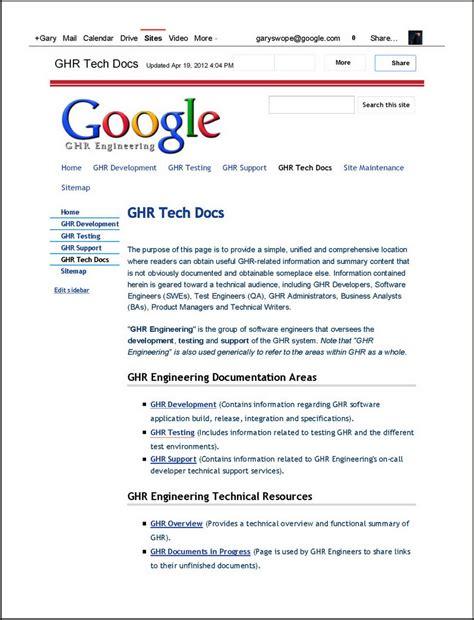 google design verification engineer gps productions technical writing