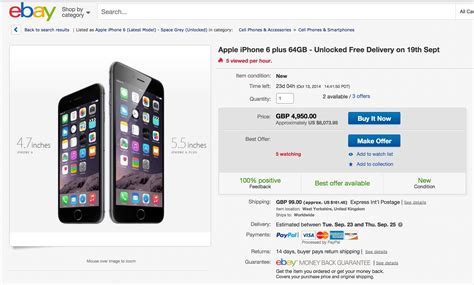 ebay iphone 6 iphone 6 plus is over 8 000 on ebay iphone 6 available