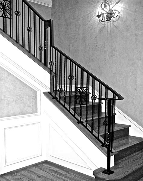 indoor railing custom wrought iron work