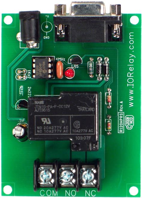 A R Relay Spdt 1 Channel 12v Jrc 21f 250vac 30vdc 3a low cost 1 channel 20a spdt relay controller with rs 232
