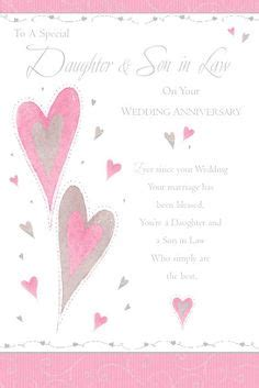 free printable anniversary cards for son and daughter in law a daughter and son in law anniversary card cards