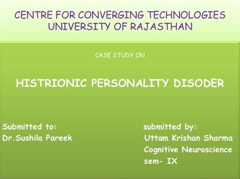 Utm Mba Part Time by Histrionic Personality Disorder Study 100 Original