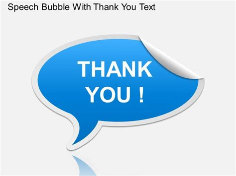 Ga Speech Bubble With Thank You Text Powerpoint Template Graphics Presentation Background Speech Powerpoint Template