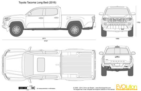 the blueprints.com vector drawing toyota tacoma long bed