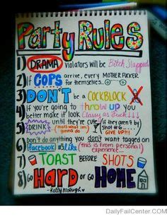 house party rules thousands of images about house party rules on pinterest party rules house party