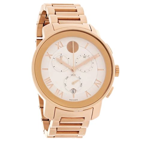 Swiss Army L1151 Rosegold White movado bold mens white gold swiss chronograph