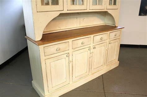 farmhouse sofas hand made large farmhouse hutch in buttermilk finish by