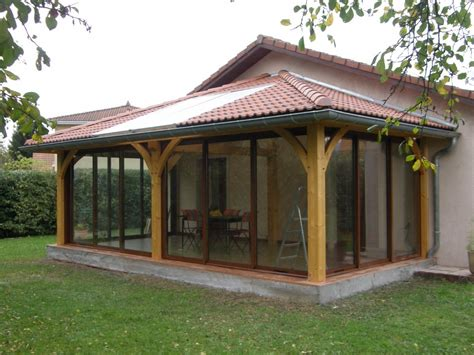 in veranda veranda ossature bois prix