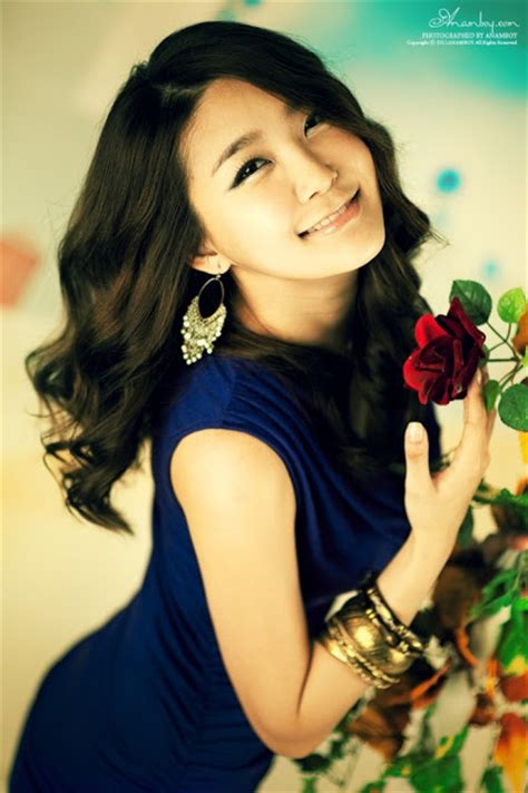 swing girls kpop bang eun young in violet dress and flower swing teen