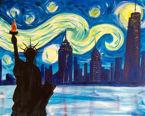 paint nite nyc deals almost sold out paint starry new york 4 july