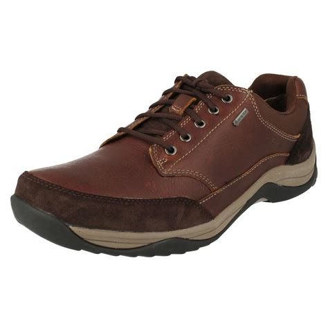 mens goretex boots mens clarks casual tex lace up shoes baystonego gtx
