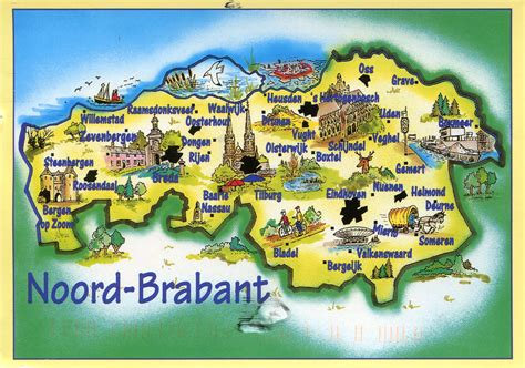 brabant netherlands map noord brabant map remembering letters and postcards