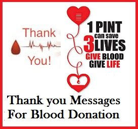 Thank You Letter For Blood Donation C Appreciation Messages And Letters Blood Donors