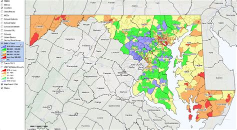 maryland map county boundaries maryland state gis project