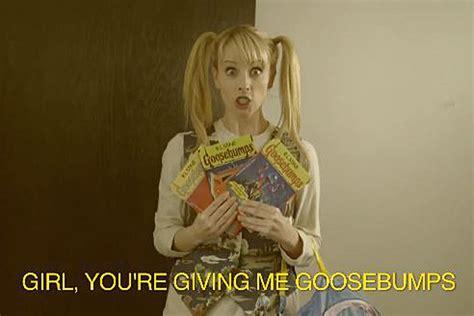 Goosebumps Girl Meme - pics for gt goosebumps girl meme