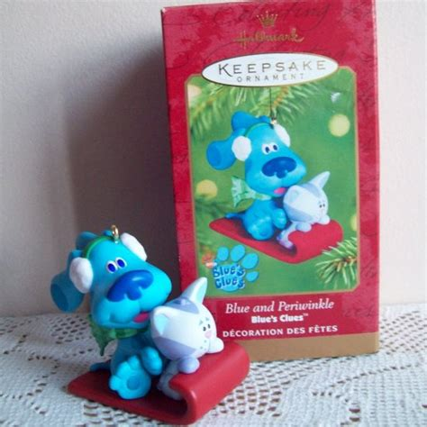 blue s clues and periwinkle hallmark 2001 christmas ornament