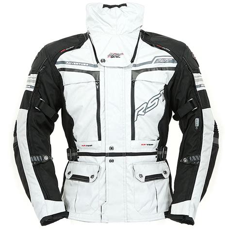 Jaket Silver Adventure Polos rst pro series adventure 2 textile jacket silver black free uk delivery