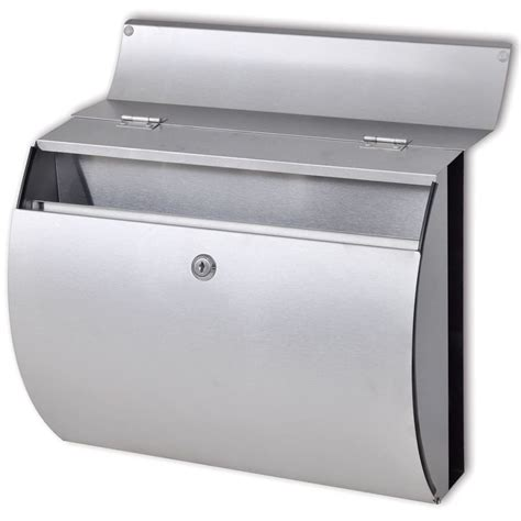 stainless steel mailbox vidaxl co uk stainless steel mailbox