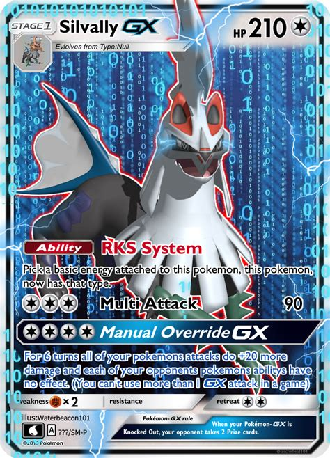 card template gx silvally gx by waterbeacon on deviantart
