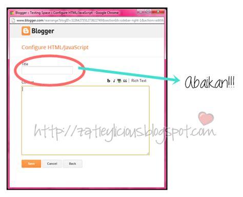 tutorial design blog sendiri zatieylicious tutorial blog cara mudah tukar sidebar