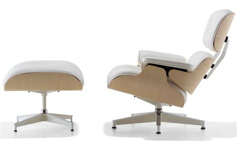 Eames White Lounge Chair by White Ash Eames 174 Lounge Chair Ottoman Hivemodern