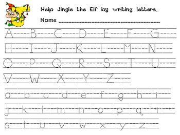 christmas alphabet handwriting practice kindergarten