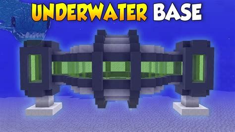 minecraft underwater house minecraft how to build a secret underwater house base tutorial youtube