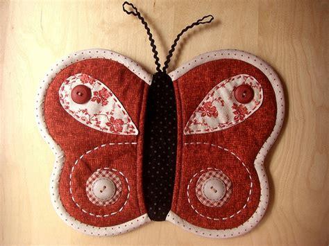Patchwork Butterfly Pattern - butterfly potholder patchwork pottery fan board