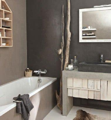 Attrayant Leroy Merlin Etagere Salle De Bain #7: ambiance-nature-dans-cette-petite-salle-de-bain-murs-vernis-gris.jpg